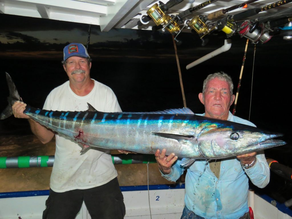 left-right-dan-jackman-and-jig-head-ed-sumrall-showing-off-the-60lb-wahoo-they-caught-while-trolling-on-the-39-hour-at-hubbards-marina