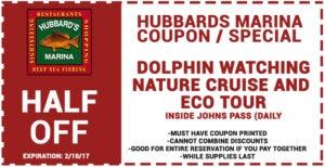 Hubbard's Marina Dolphin Watching Coupon