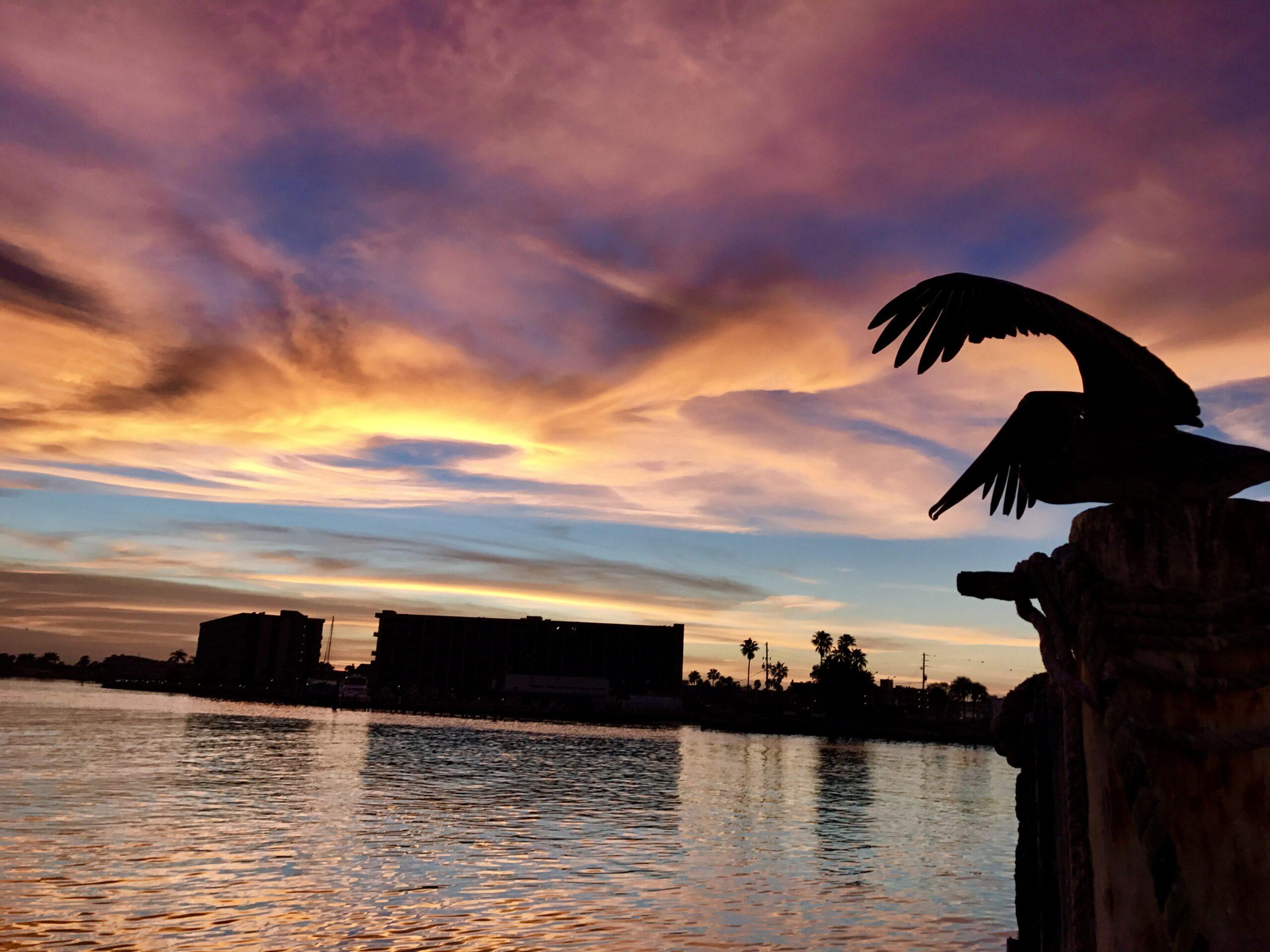 Beautiful Sunset inside John's Pass | Madeira Beach, FL | Hubbard's Marina Fishing Report